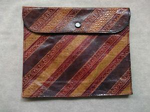 Clutch Bag Handbag LEATHER Vintage 1950s 1960s
