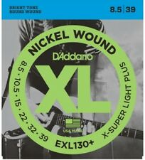 3 Sets D'Addario EXL130+ Electric Guitar Strings Extra Super Light Plus 8.5
