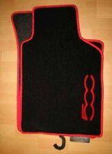 Fiat 500 à partir de 2012-Tapis de voiture Tapis de sol noir mat bord rouge