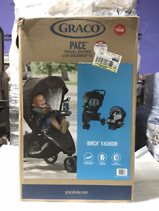 Graco 7836 Pace Travel System for Newborn up to 4 Years in Birch Fashion