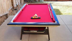 Vintage Brunswick Mach 1 Pool Table