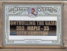 2013 TOPPS GYPSY QUEEN JOSH HAMILTON BAT BARREL 1/1!!