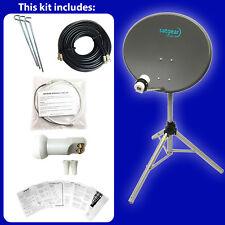 Satgear 60cm Zone 2 Portable Satellite inc Tripod Twin LNB Flat Window Cable Kit