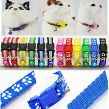1X Adjustable Pet Dog Puppy Cat Nylon Neck Choker Collar Safety Buckle Belt Bell