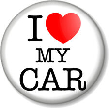 "I Love / Heart my CAR 1"" 25mm Pin Button Badge Motor Lover Vehicle Automobile"