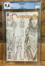 Convergence #2 David Finch Wonder Woman 1:100 Sketch Variant CGC 9.6 1260753022