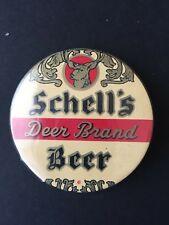 Schell'S Deer Brand Beer Pin Pinback Button Vintage Badge-a-minit