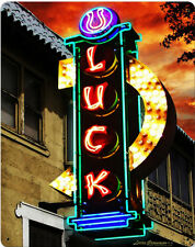 LUCK Resturant Neon Sign Metal Sign