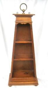 "Alfred Assid Book Shelf Wall Display Wood Feet Signed Mid Century 27"" x 13"" x 7"""