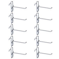 10Pcs Stainless Steel Grid Wall Bracket Peg Board Display Hook for Supermarket