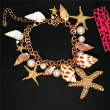 Hot Betsey Johnson Fashion Sea starfish Conch Pearl Women Bracelet Gift
