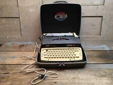 Vintage Smith-Corona 110 Portable Typewriter W/ Box Works 1970s