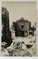 RPPC San Diego de Alcala Mission Restoration c1930 Real Photo Postcard G6