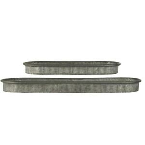 Set of 2 Garden Metal Display Tray With Grooves by Ib Laursen