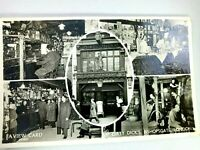 Vintage Postcard Dirty Dick's Bishopsgate London Bar & Dining Room Posted 1958