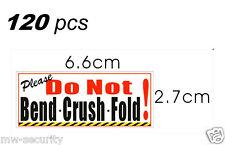 120pcs Please Do Not Bend * Crush * Fold Sign Sticker Warning Label