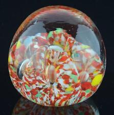 "VINTAGE GLASS MULTI-COLOR PAPERWEIGHT-2 3/8"" HIGH"