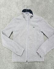 Womens Lacoste Sport Gray Fleece Jacket Coat size 36 EUC