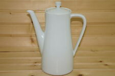 "Seltmann Doris All White Coffee Pot, 7"" with Lid"