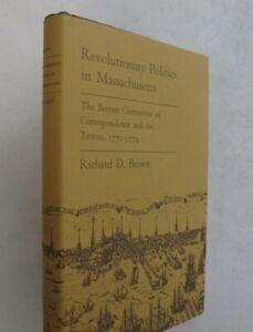 US Government History Revolutionary War Politics Massachusetts Towns DJ 1st 1970