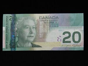 2004 $20 Bank of Canada Banknote AUA 0769766 Jenkins Carney AU Gr Printed 2009