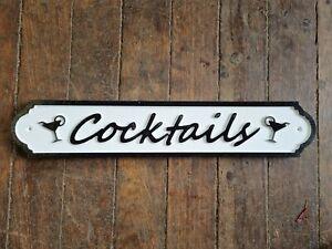 Cocktails 51.5CM LONG SIGN NEW HOME BAR 02
