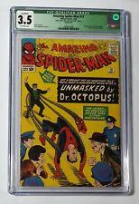 OFFER AMAZING SPIDER-MAN 12 CGC 3.5 QUALIFIED MARVEL 1964! STAN LEE DITKO