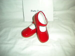Girls Patent Red Shoes by Pretty Originals First Class Post  UK 3.5 to 9