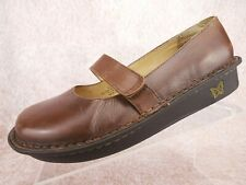 Alegria Feliz Brown Leather Mary Janes Professional Comfort Shoes US 9 EU 39