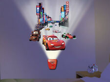 Wild Walls DISNEY CARS wall stickers 11 decals with LIGHT & SOUNDS McQueen Mater