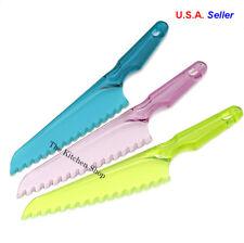 Lettuce Knife Non Browning Plastic Serrated Blade Vegetable Fruit Safety Salad