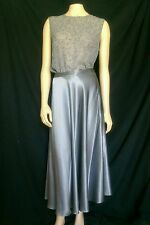 NWT Judy Hornby  Party Cocktail  Platinum Gray skirt and blouse  sz 8
