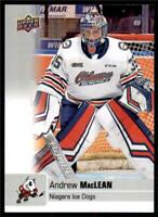2019-20 UD CHL Base Set #68 Andrew MacLean - Niagara IceDogs