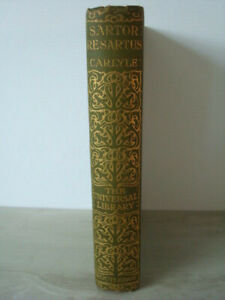 Sartor Resartus - Thomas Carlyle - H'back, Routledge, 1930s - Exceptional Cond.