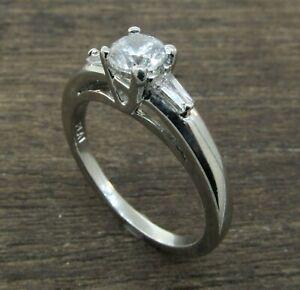 Platinum Baguette Diamond Engagement Ring Setting **ONLY $690**