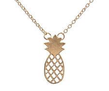 Oro Placcato Ciondolo Collana Catena con Ciondolo Ananas