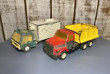 Pair of Ertl Vintage Toy Trucks, Diecast Astro Cabover/Pressed Steel Dump Truck