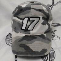Roush Fenway Racing Cap Gray Woodland Camo #17 Matt Kenseth Nascar GUC Hat