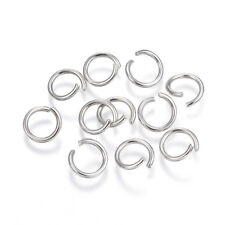 1000 pcs 304 Stainless Steel Open Jump Rings Split Rings Findings Steel Colour