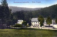 alte Ansichtskarte Hirschsprung Ladenmühle, sächsisches Erzgebirge
