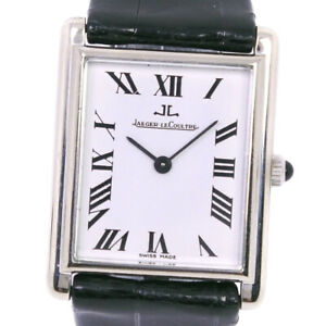 JAEGER-LECOULTRE Watches K18 white gold/leather Hand Winding Analog displa...