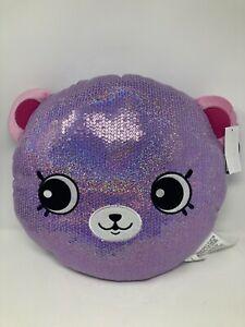 Shopkins Happy Places Decorative Pillow Purple Bear. New
