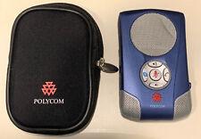Polycom Communicator C100s Usb Blue Skype Desktop Pocket Speakerphone Microphone