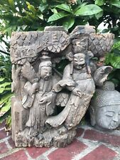 """18thc XL ANTIQUE ASIAN TEMPLE GUARDIAN HAND-CARVED WOOD ARCHITECTURAL*30""""$SALE$"""