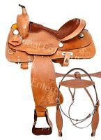 Y&Z Enterprises Western Premium Leather Western Racing Horse Saddle 14-18 Seat