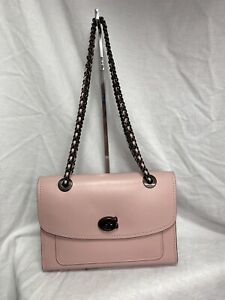 NEW Coach 26852 Parker Crossbody Leather Bag Aurora Pink NWT $350