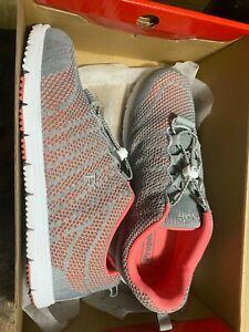 Propet Women's Travel Walker Evo Gray/Coral Knit Sneakers10 Wide (D)