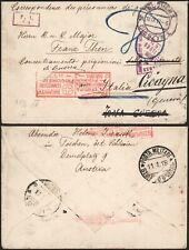 Austria Poland WWI 1917 - POW Cover Cieszyn to Genova Italy - Censor C36