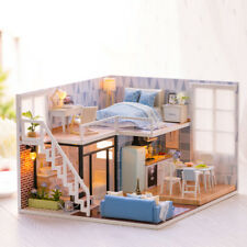 DIY Doll House Wooden Doll Houses Miniature dollhouse Furniture Kit Toys fo L7B8