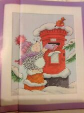 (XX) Margaret SHERRY Hérisson Robin Postbox christmas cross stitch chart